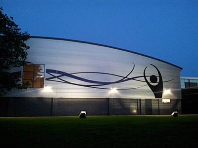 Decorative building facades | Etch and Cut | Irlam and Cadishead Leisure Centre