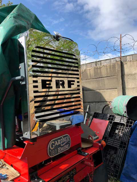 Laser Cut Steel radiator Grill for ERF TRucks