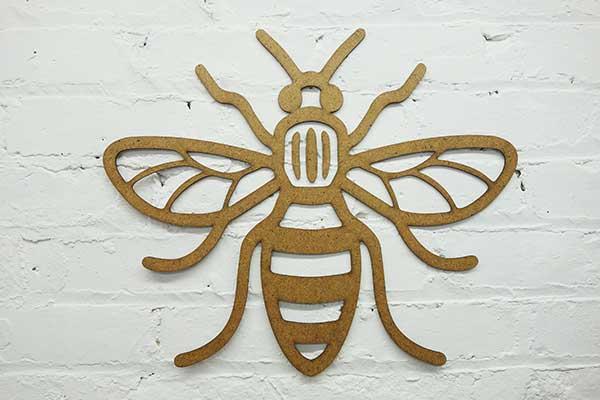 Laser Cut Manchester Bees