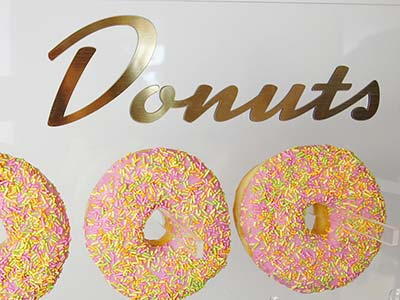 CLEAR ACRYLIC DONUT WALL - ETCH AND CUT LASER